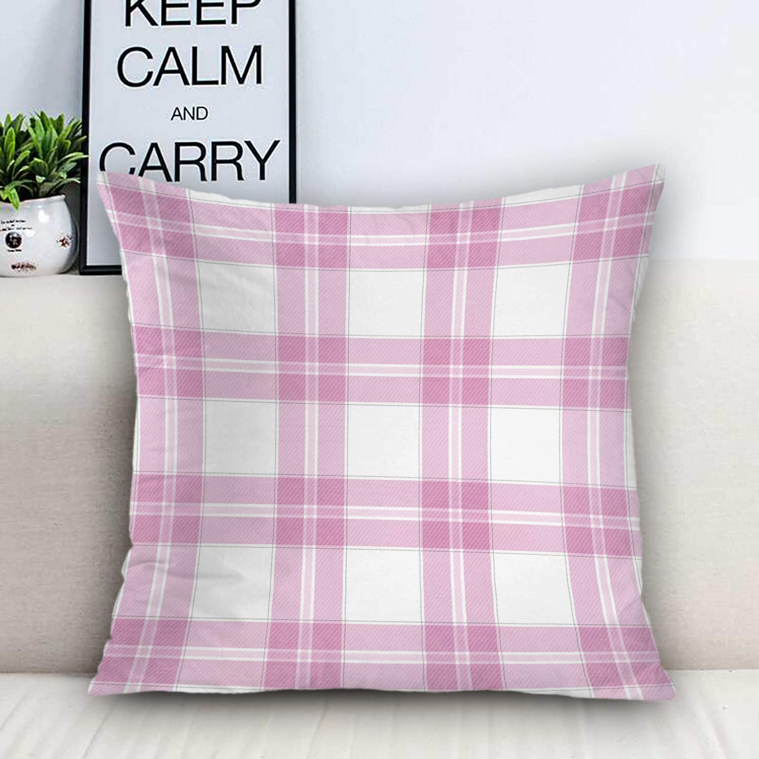 Batmerry Checkered Pillow Covers 18x18