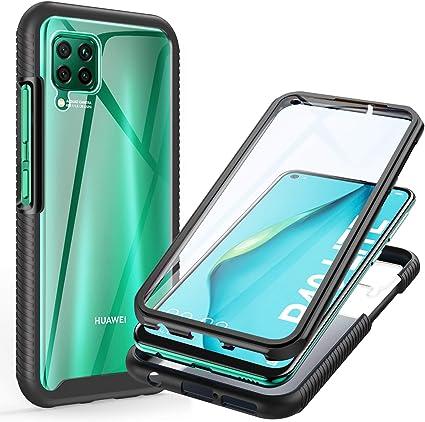 ivencase Coque pour Huawei P40 Lite, 360 Degrés Protection Transparente Antichoc Anti-Rayures Complète du Corps Bumper TPU Case Housse pour Huawei P40 ...