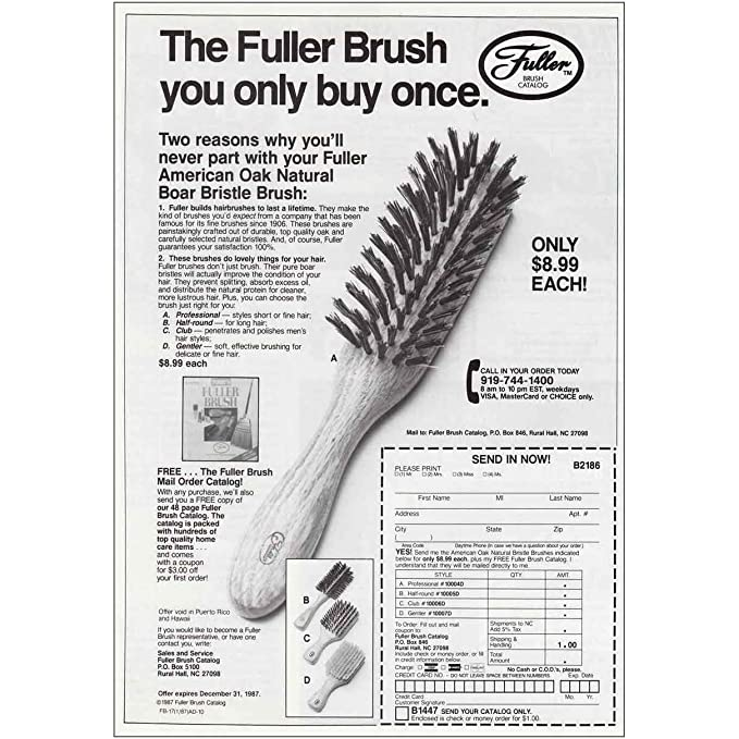 Amazon com: RelicPaper 1987 Fuller Brush: Only Buy Once