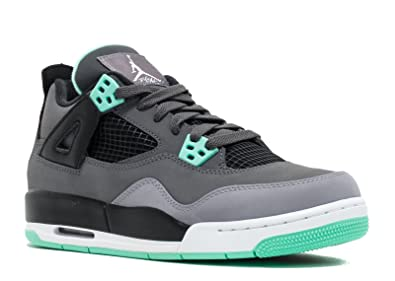 NIKE AIR JORDAN 4 RETRO (GS) DRK GREY/GRN GLW-CMNT GRY