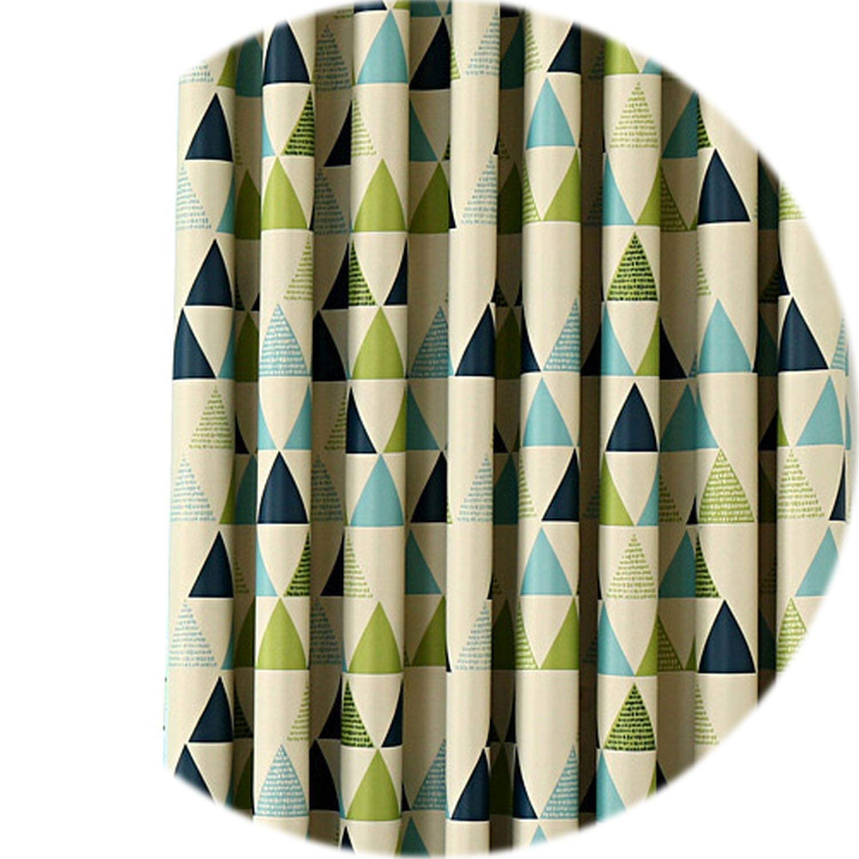 vibe-pleasure Elegant Living Room Curtains Decorative Door Blackout Cortinas Custom Made Drapes Quality Stitching Single Panel,Green Thick Curtain,W500cm L270cm,3 Tab Top