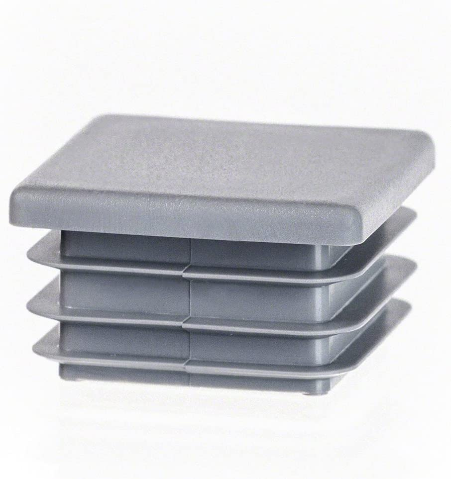 Quadratstopfen 10 St/ück 70x70 mm Wei/ß Kunststoff Lamellenstopfen Abdeckkappe