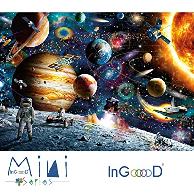 InGooooD -Mini Series-World Mini Jigsaw Puzzle 1000 Pieces Space Traveler Paper Puzzle Toys for Adults and Kids: Toys & Games