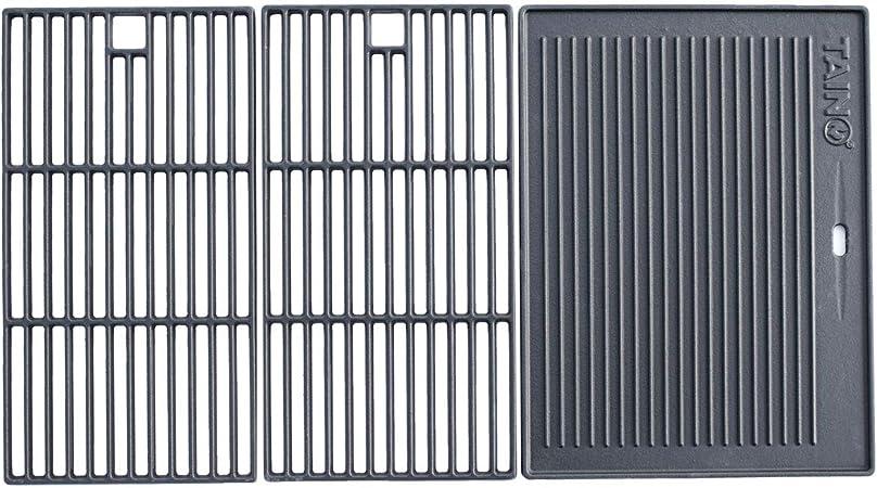 TAINO BASIC 3+1 Gusseisen Rost Grillplatte Grillrost Zubehör Set Gasgrill Grill