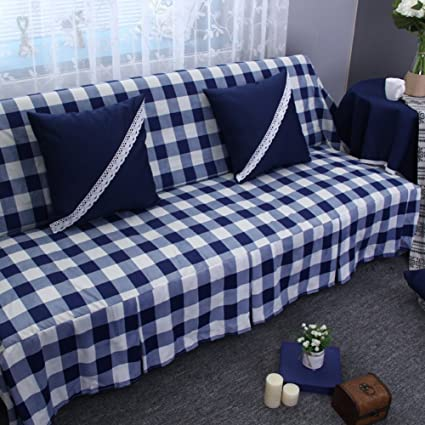 JIEJING Checkered Sofa Covers,All Sofa Cover Sofa Slipcover Simple Modern  Fabric Clean Sofa Slipcover