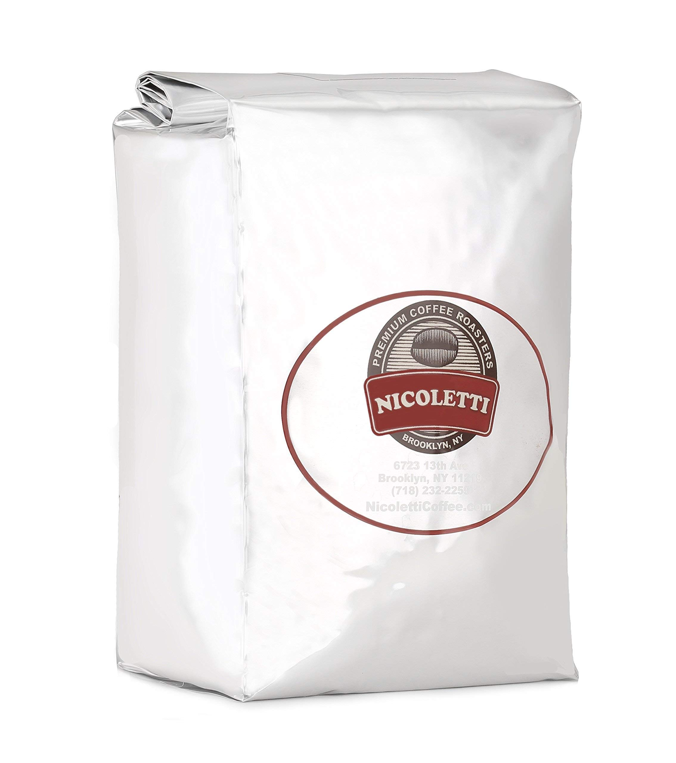 Nicoletti Coffee Espresso Roast Beans 2.20lb (Made in Brooklyn NY since 1972)