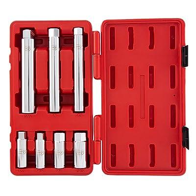 Sunex 8845 3/8-Inch Drive Spark Plug Socket Set, CR-V, 7-Pieces - Automotive Disc Brake Caliper Pairs - .com
