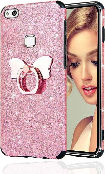 Misstars Brillantini Glitter Cover per Huawei P10 Lite, Bling Scintillante Morbida TPU Silicone Custodia Antiurto e Antiscivolo Protettivo Cover con ...