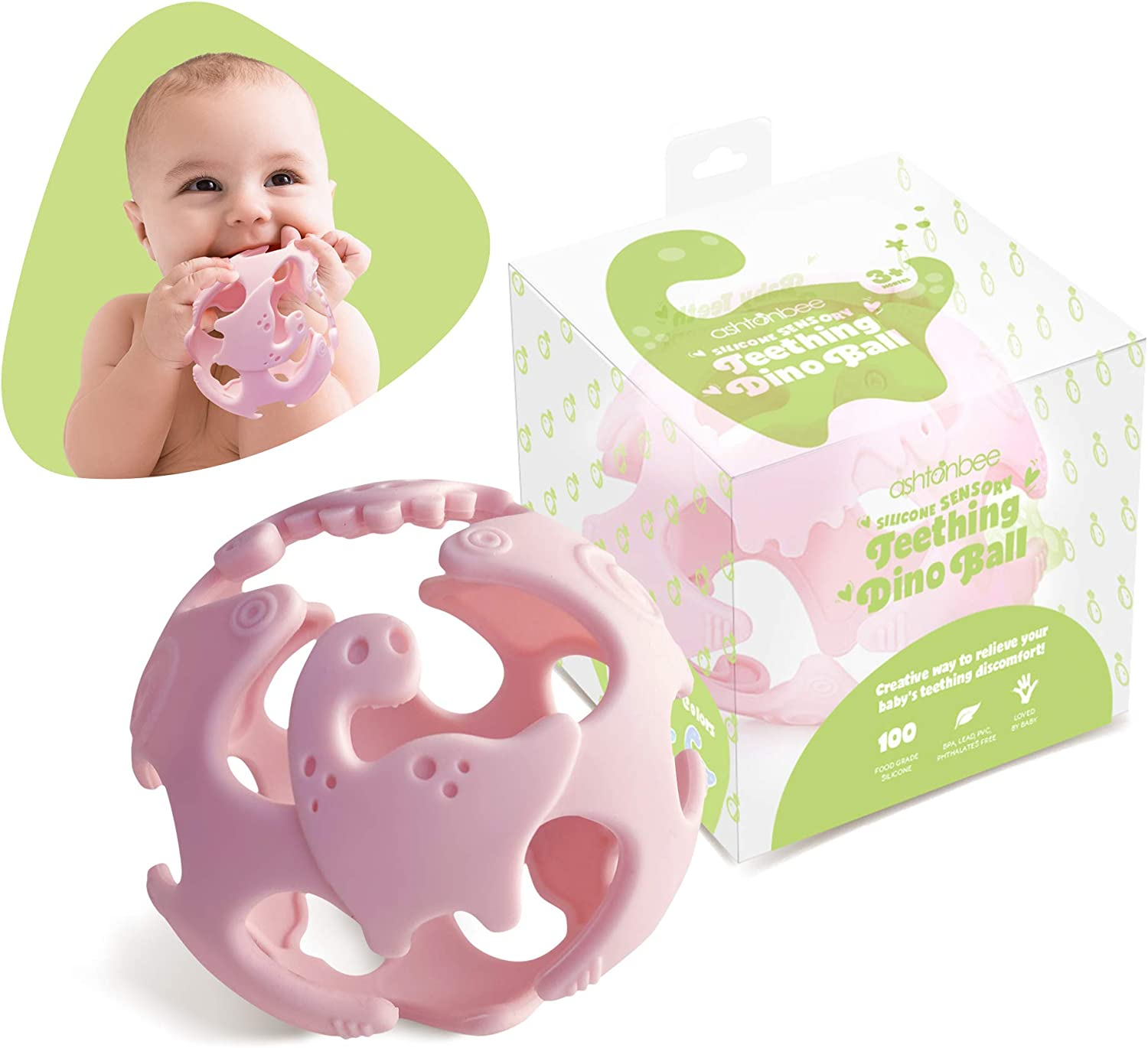 Soothing Teething Toy from Birth Green Baby Teething Toys for Babies 0-6 Months Teethers for Infants /& Toddlers BPA Free Non-Toxic Silicone Molars Adjustable Chew