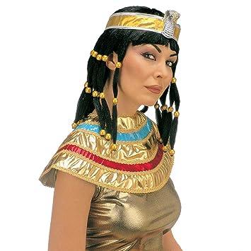 Peluca de Cleopatra con cuello Cleo de carnaval de Cleopatra en Egipto llena de la peluca