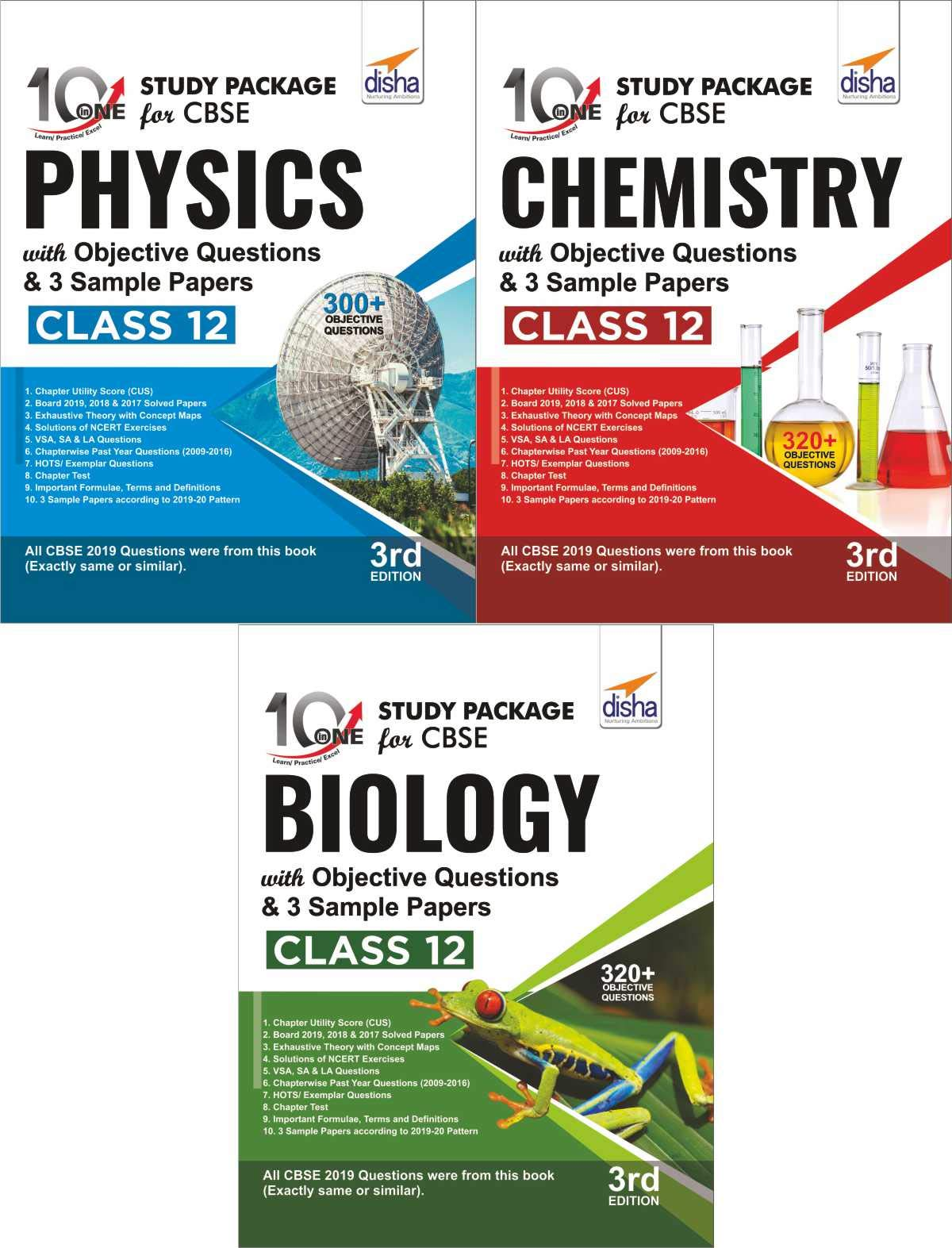 Combo 10 in One Study Package for CBSE Physics, Chemistry