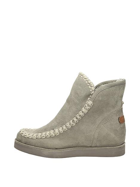 09f815ecfa1 Wrangler Axel Knitted 29 Taupe Mujer Botas Marrn  Amazon.es  Zapatos y  complementos
