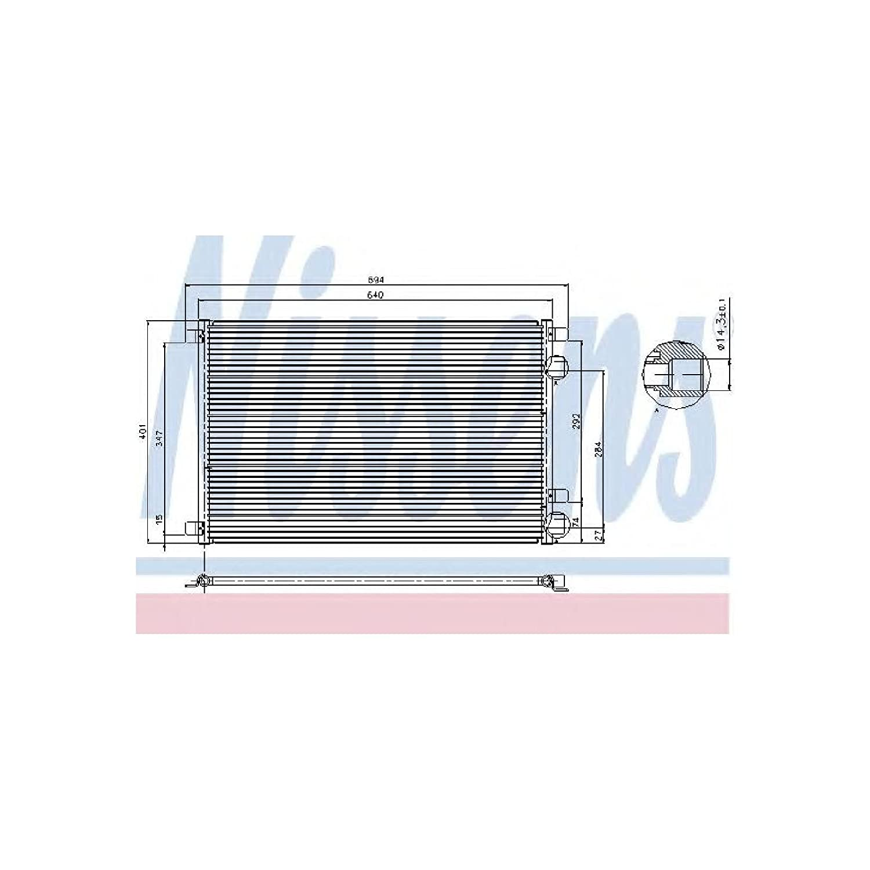 Nissens 94626 Condenser, air conditioning