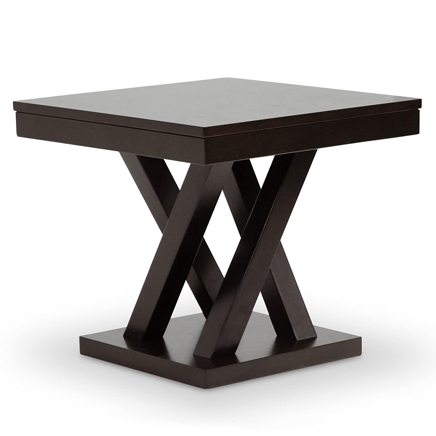 Amazon.com: Baxton Studio Everdon Modern End Table, Dark Brown ...