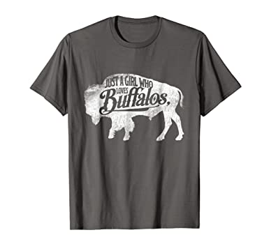 8794b3ad966f Mens Just A Girl Who Loves Buffaloes Buffalo TShirt Bison Lover 2XL Asphalt