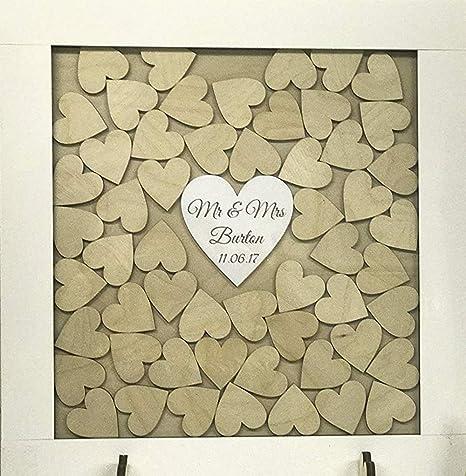 34 Anniversario Di Matrimonio.Personalizzata Bianco Matrimonio Libro Degli Ospiti Drop Box In