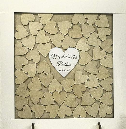 Personalizable blanco libro de invitados para boda Drop caja de ...