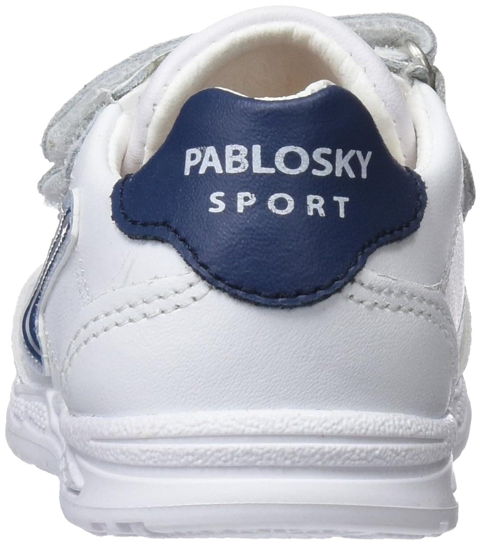 Pablosky 001206, Sandales Bout Fermé Garçon, Blanc (1 Blanco), 23 EU