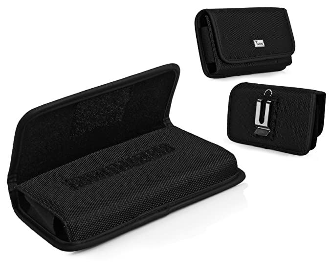 quality design f897d 787d9 Kyocera DuraForce Pro Case, TMAN Heavy Duty Horizontal Rugged Pouch  Carrying Case with Belt Clip Belt Loops Holster for Kyocera DuraForce Pro  (Fits ...