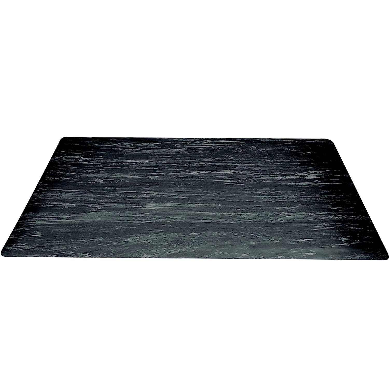 Box Partners 大理石 ソフトスタイル グランデ 抗疲労マット 2フィート×10フィート ブラック (MAT206BK)   B003WZT3OY