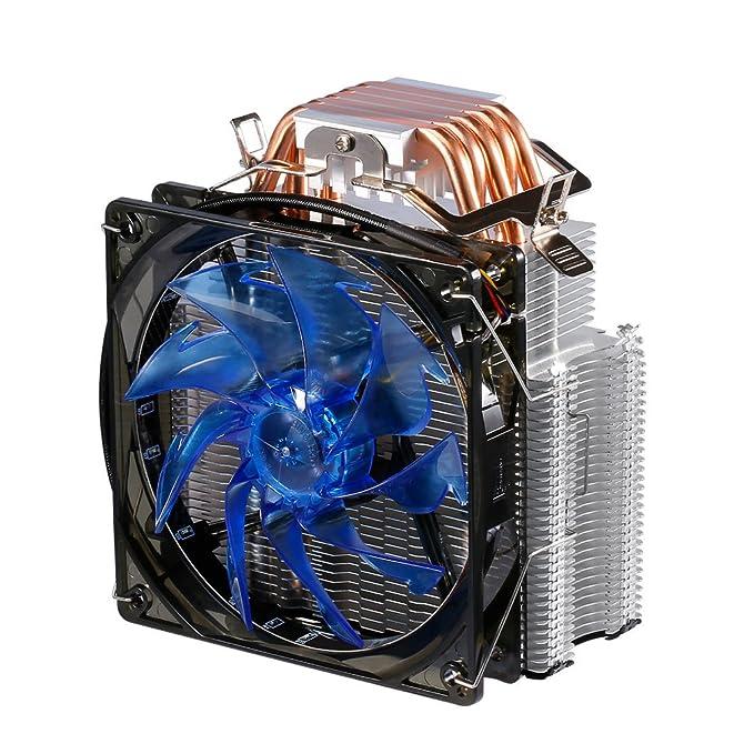 12 opinioni per CPU Cooler 120mm Ventola PWM, Foglie Speciale Super Silenzioso, 5 Tubi di Rame