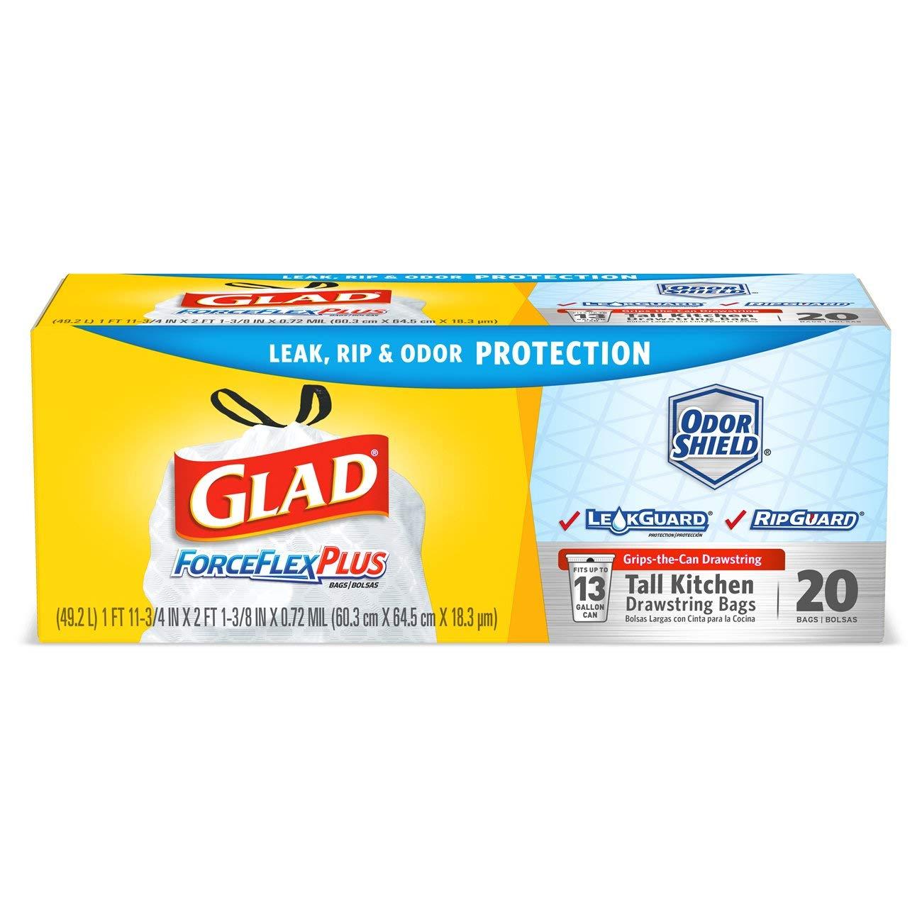 Amazon.com: Glad ForceFlex - Bolsas de basura con cordón ...