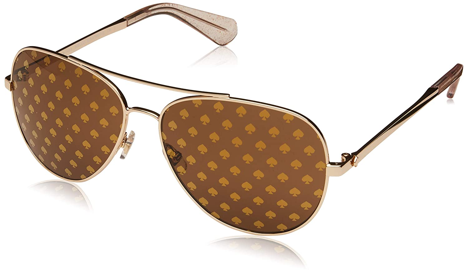 cebb69266e Amazon.com  Kate Spade Women s Avaline2 s Aviator Sunglasses Gold 58 mm   Clothing