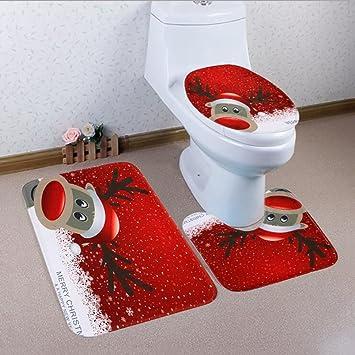 Gaojuan Wc Matte 3 Stuck Badezimmer Teppich Set Bad Anti Rutsch Set