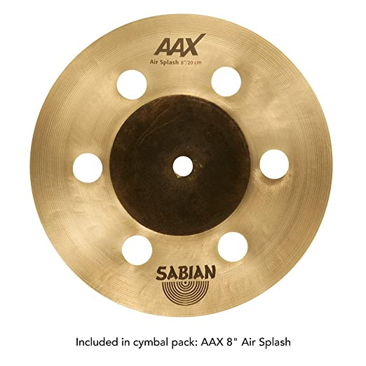 Sabian B8X Cymbal Pack with Free AAX Air Splash (Amazon Exclusive