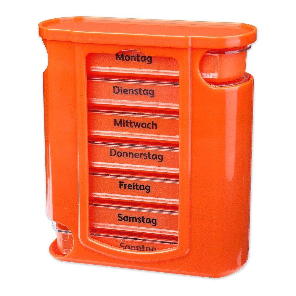 /Pastillero para cajas de pastillas p/íldora latas IP4PILCASCOV PILL lata Semana Dosificador S//o/® pastillas Caja Naranja con naranjas schiebern 7/d/ías IP4PILCASCOV PILL Box Caja Pastillero/