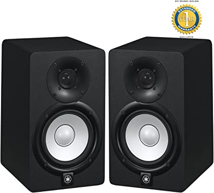 with 1 Year Free Extended Warranty Yamaha HS5 70W Powered 2-way Studio Monitor Pair