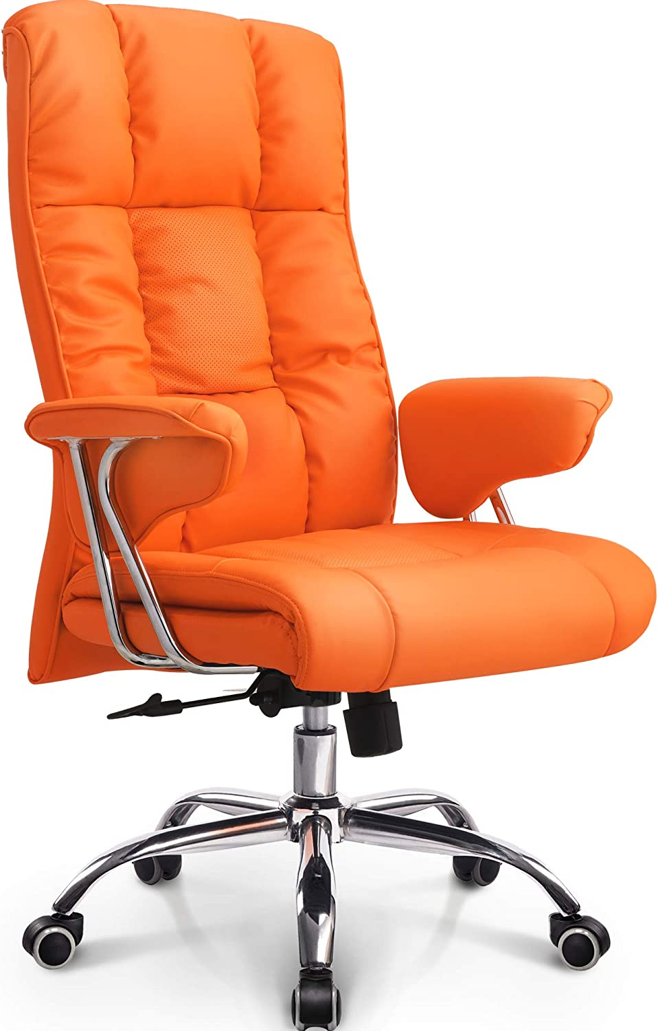 Amazon Com Neo Chair Office Chair Computer Desk Chair Gaming Ergonomic High Back Cushion Lumbar Support With Wheels Comfortable Orange Upholstered Leather Racing Seat Adjustable Swivel Rolling Home Executive Office Products