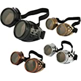 VANVENE 4pcs Retro Vintage Victorian Steampunk Goggles Glasses Welding Cyber Punk Gothic Cosplay