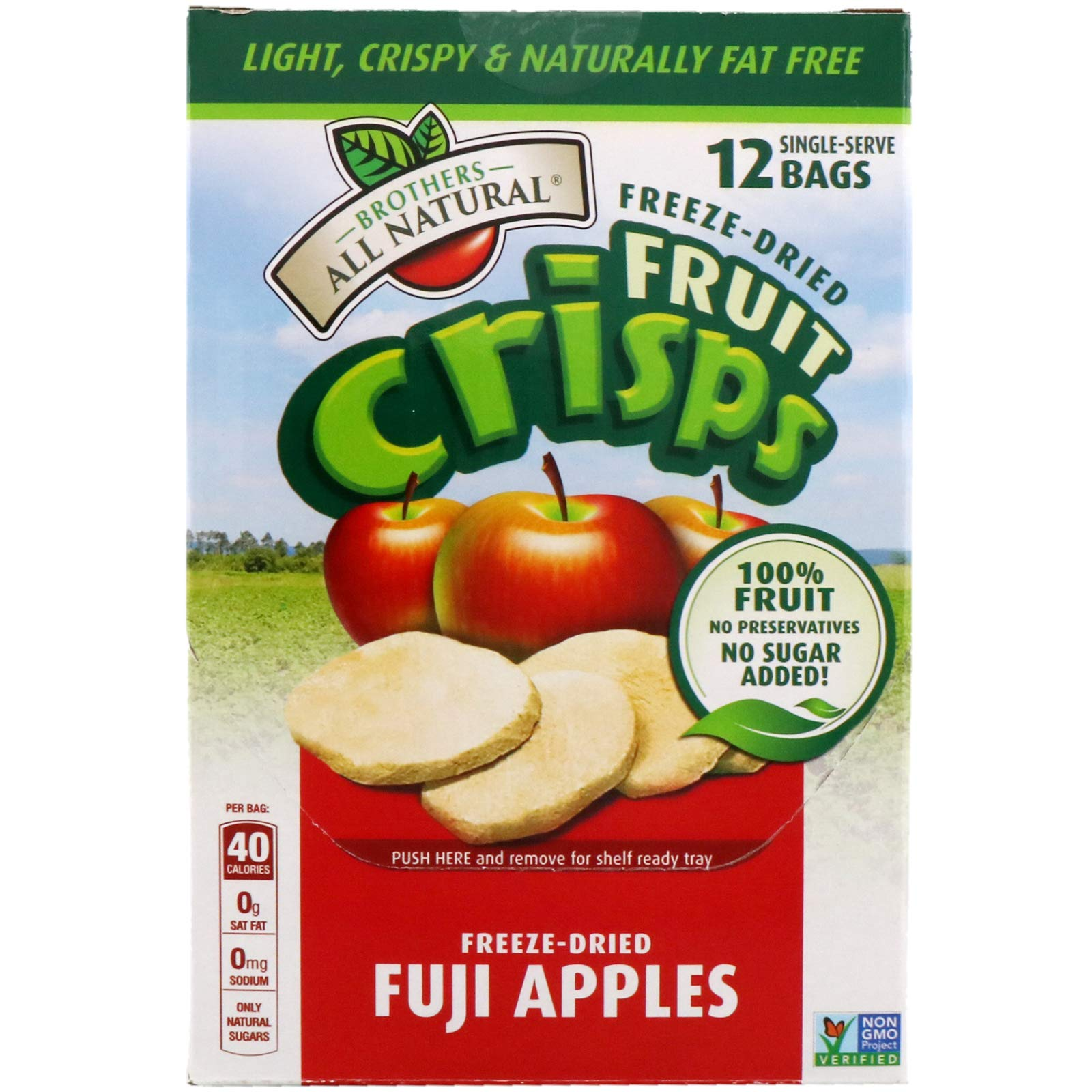 BROTHERS ALL NATURAL All Apple C's Fruit Crisps, 0.35 Ounce (Pack of 12) by BROTHERS ALL NATURAL