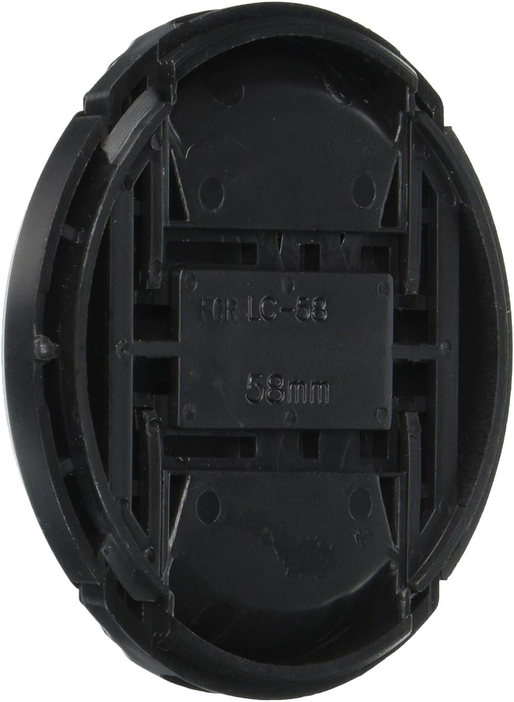 Includes Lens Cap Holder CowboyStudio 62mm Center Pinch Snap-on Lens Cap for Nikon Lens Replaces LC 62