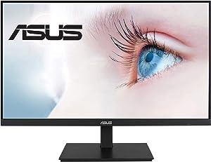 "ASUS VA27DQSB 27"" Monitor, 1080P Full HD, 75Hz, IPS, Adaptive-Sync, Eye Care, HDMI DisplayPort VGA USB Hub, Frameless, Ergonomic Design, VESA Wall Mountable"