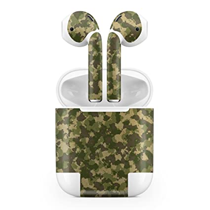 big sale 74958 1967c Amazon.com: Apple AirPods Skin Kit - Military Camouflage V2 - Design ...