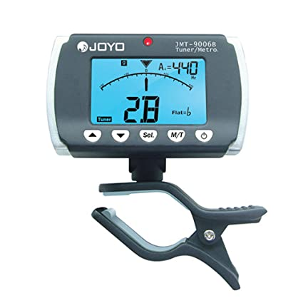 Amazon.com: Digital LCD Clip-on Backlit Metronome Tuner for Most Electronic Acoustic Guitar Chromatic Bass Violin Ukulele JOYO JMT 9006B: Musical ...