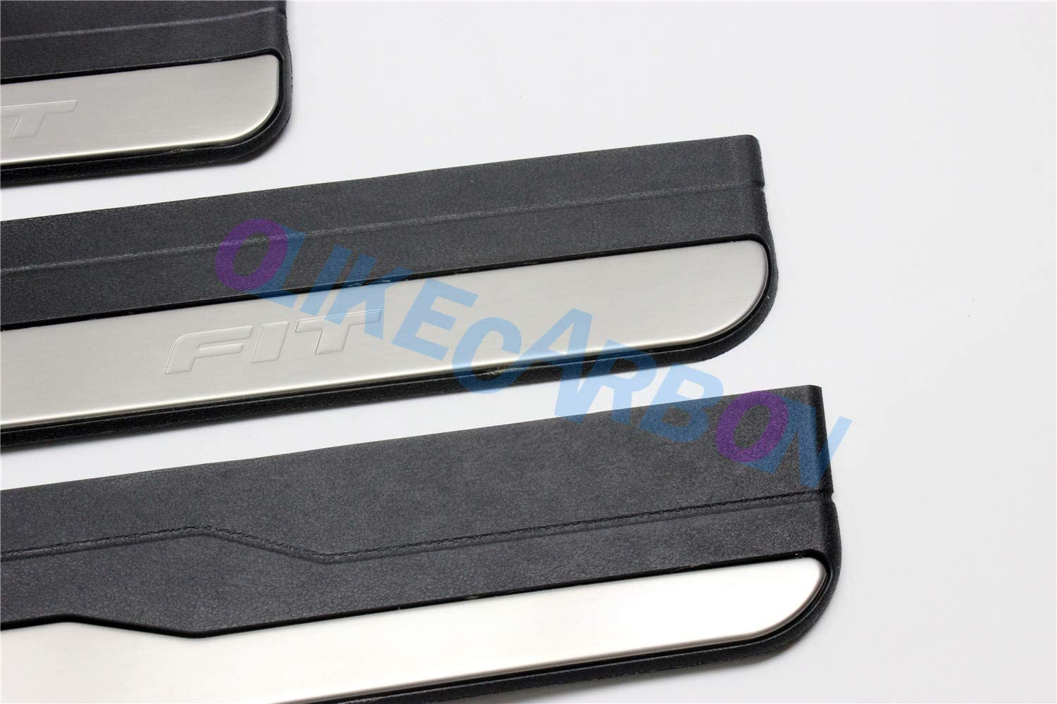 Stainless Steel Door Sill Scuff Plate Guard Fit 4pcs for Honda Fit 2014-2016