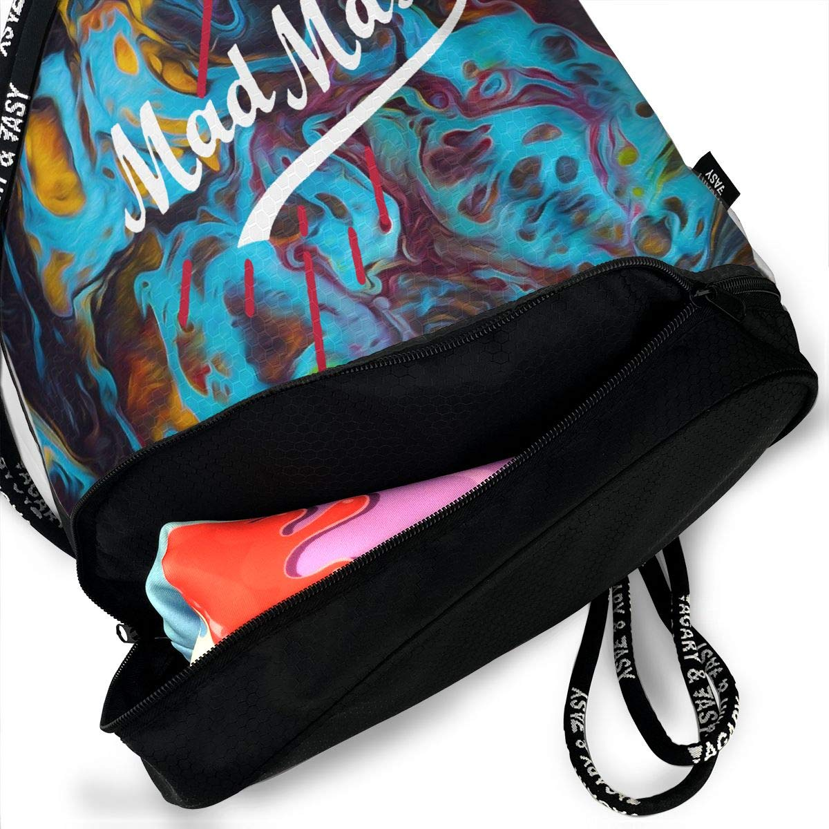 LGBT Gay Lesbian Pride Funny Gym Drawstring Bags Travel Backpack Tote Rucksack