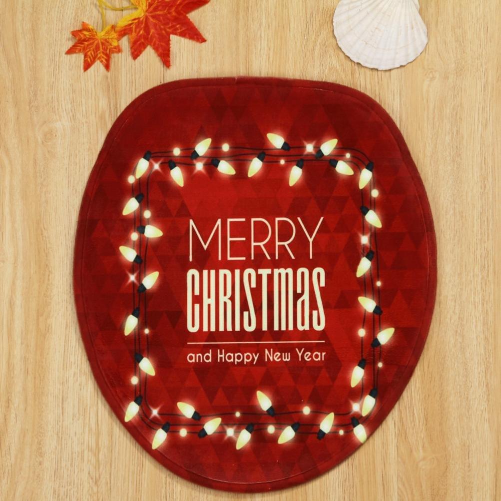 Binmer (TM) casa Navidad tapa de inodoro cubierta de asiento radiador de patas baño sets: Amazon.es: Hogar