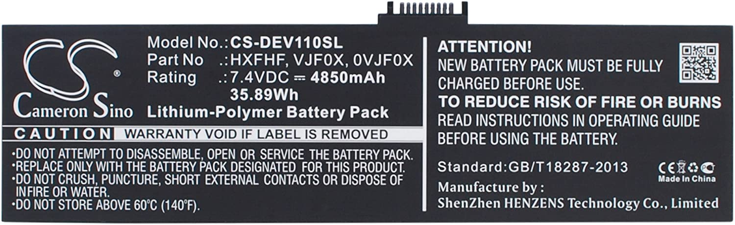 Rechargeable Battery for DELL Pro11i-2501BLK, V11P7130, Venue 11 Pro, Venue 11 Pro 7130 Junction Replacement for Asus 0VJF0X, HXFHF, VJF0X