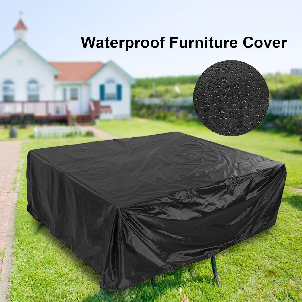 200 * 160 * 70CM Protective Cover for Garden Large Outdoor Sectional Patio Furniture Cover with PU Coating Hongzer Patio Cover Waterproof Dust Proof Anti UV//Wind Table Chair Sofa Covers