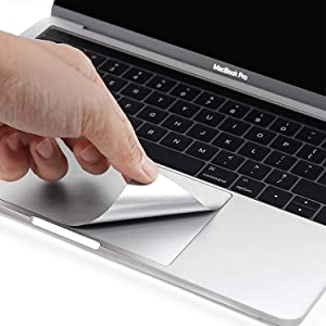 Lapogy [2 PCS] PVC TrackPad Protector for 2020 MacBook Pro 13 inch Track pad Cover & Protective Film Skin Laptop Accessories for MacBook Pro 13.3 inch with Touch Bar Touch ID Model A2251/A2289,Sliver