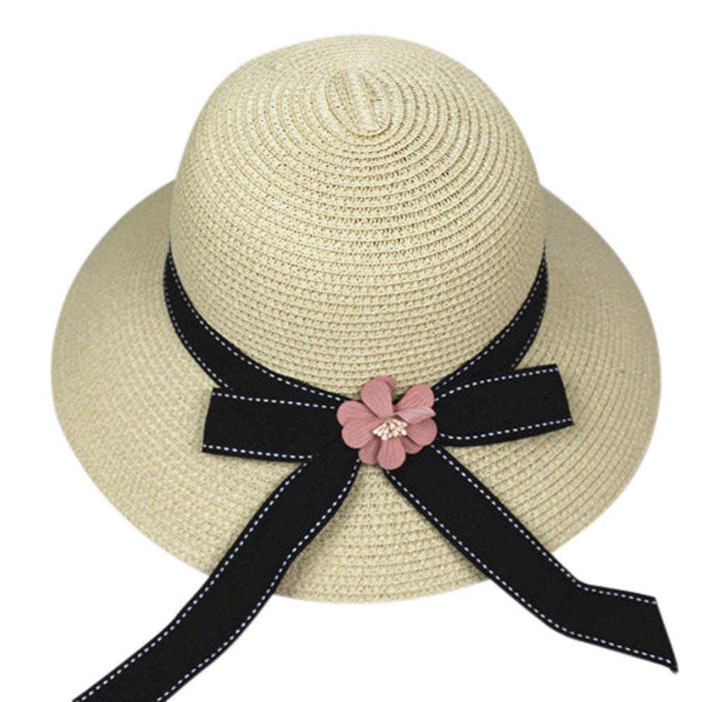 BBestseller Casuales Plegable Big Bowknot Mujer Sombrero de Playa Sombrero de Paja Verano ala Ancha Gorra de Protección Solar (Azul Oscuro): Amazon.es: Ropa ...