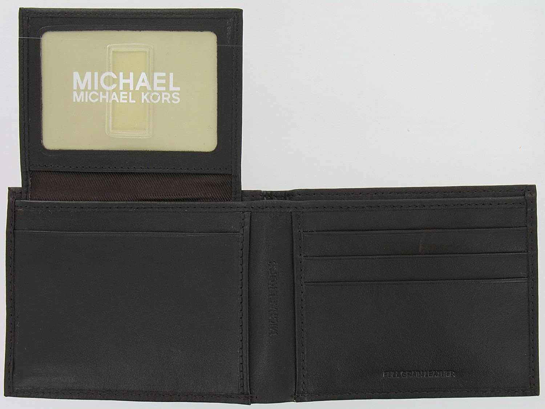 7021e4201d2d Michael Kors Brown Leather Passcase Wallet at Amazon Men's Clothing store: