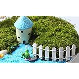Exoh miniature da giardino con picchetti in legno recinto 10x 3cm (bianco)