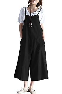 338e9e6165e Amazon.com  IRISIE Women Retro Loose Spaghetti Strap Wide Leg ...