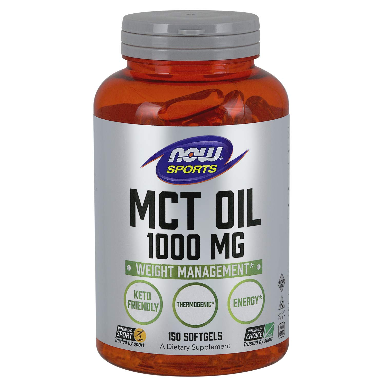 Now Sports Nutrition, MCT (Medium-Chain triglycerides) Oil 1000 mg, 150 Softgels by NOW Foods