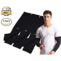 HOPESHINE Arm Cooling Sleeves UV Sun Protection Arm Sleeves for Cycling, Driving, Outdoor Sports, Golf, Basketball Sleeves for Men&Women to Cover Arms
